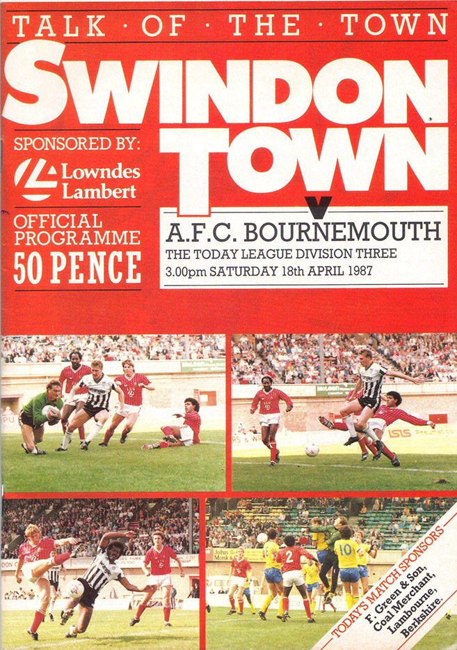 Saturday, April 18, 1987 - vs. AFC Bournemouth (Home)
