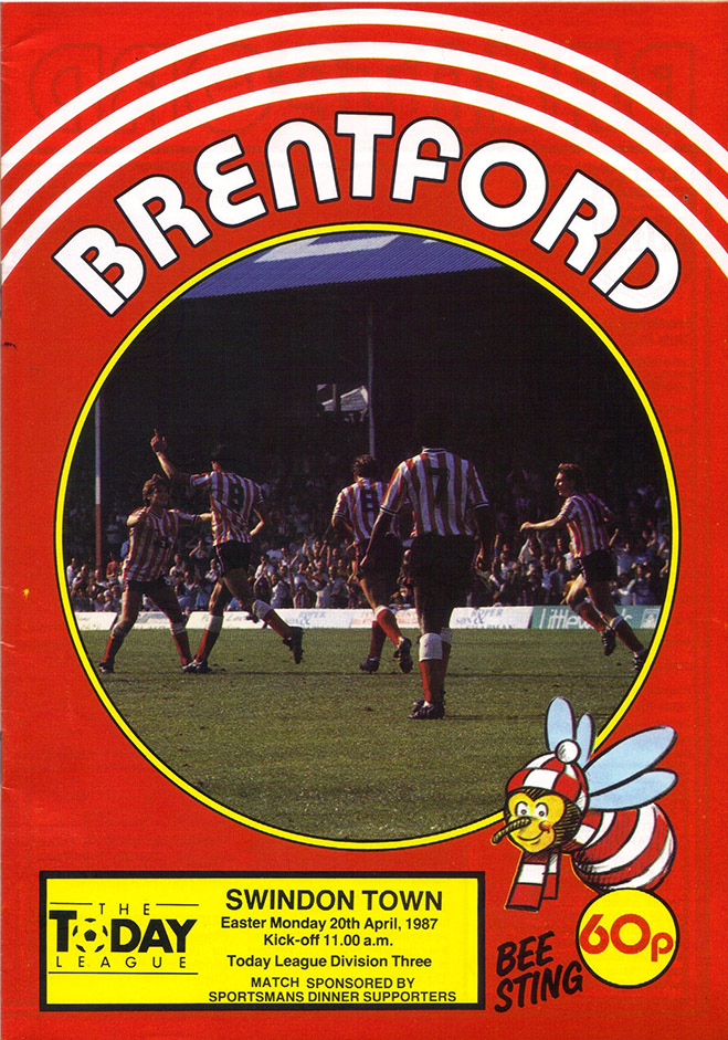 Monday, April 20, 1987 - vs. Brentford (Away)