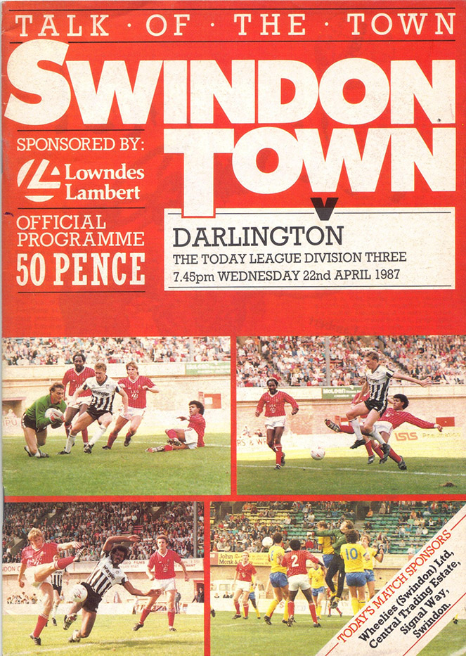 Wednesday, April 22, 1987 - vs. Darlington (Home)