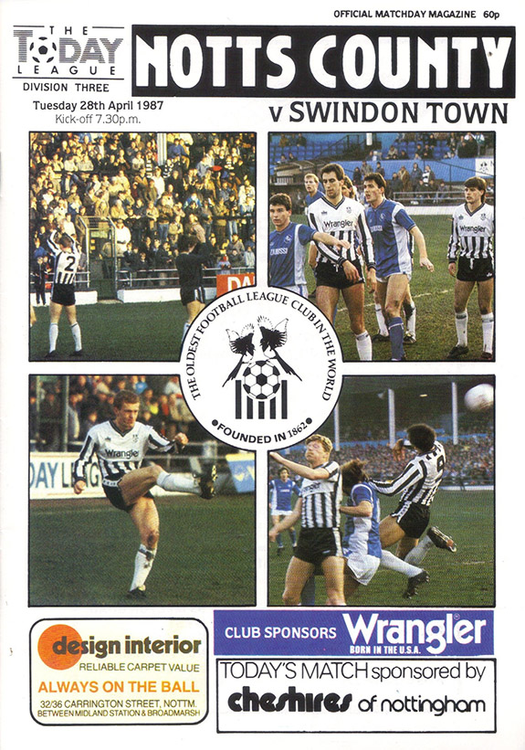 Tuesday, April 28, 1987 - vs. Notts County (Away)