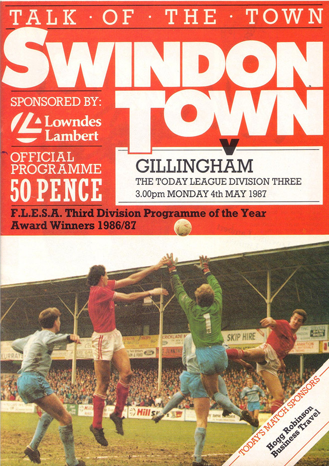 Monday, May 4, 1987 - vs. Gillingham (Home)