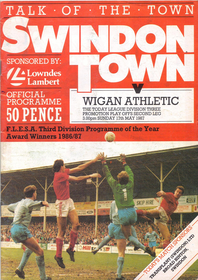 Sunday, May 17, 1987 - vs. Wigan Athletic (Home)