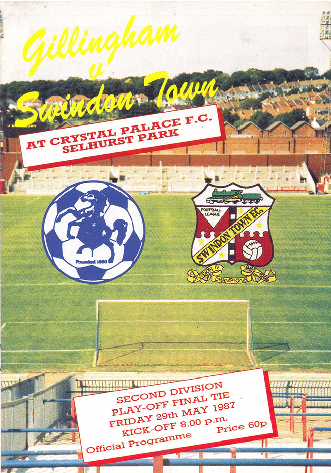 Friday, May 29, 1987 - vs. Gillingham (Neutral)