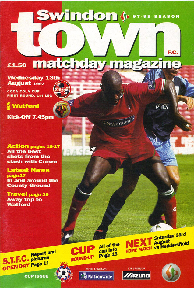 <b>Wednesday, August 13, 1997</b><br />vs. Watford (Home)
