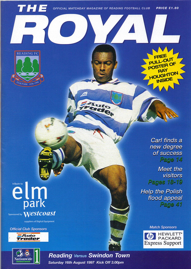 <b>Saturday, August 16, 1997</b><br />vs. Reading (Away)