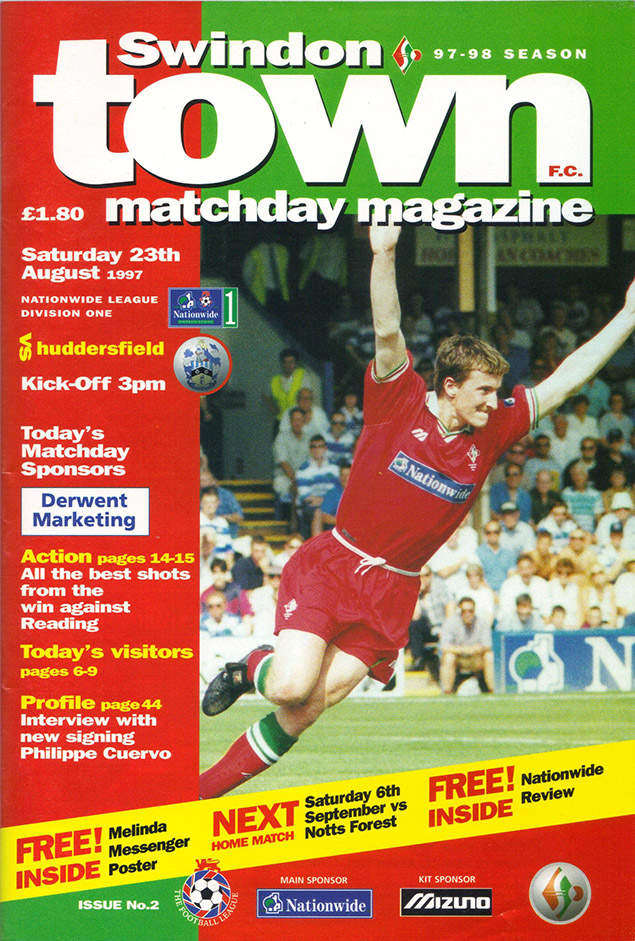<b>Saturday, August 23, 1997</b><br />vs. Huddersfield Town (Home)