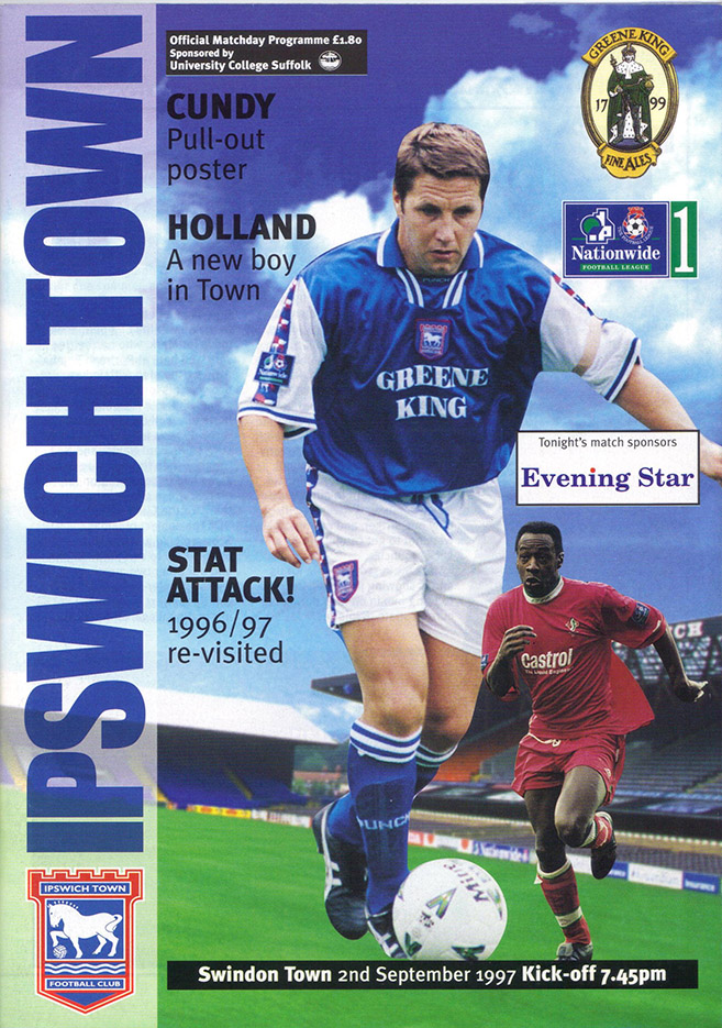 <b>Tuesday, September 2, 1997</b><br />vs. Ipswich Town (Away)