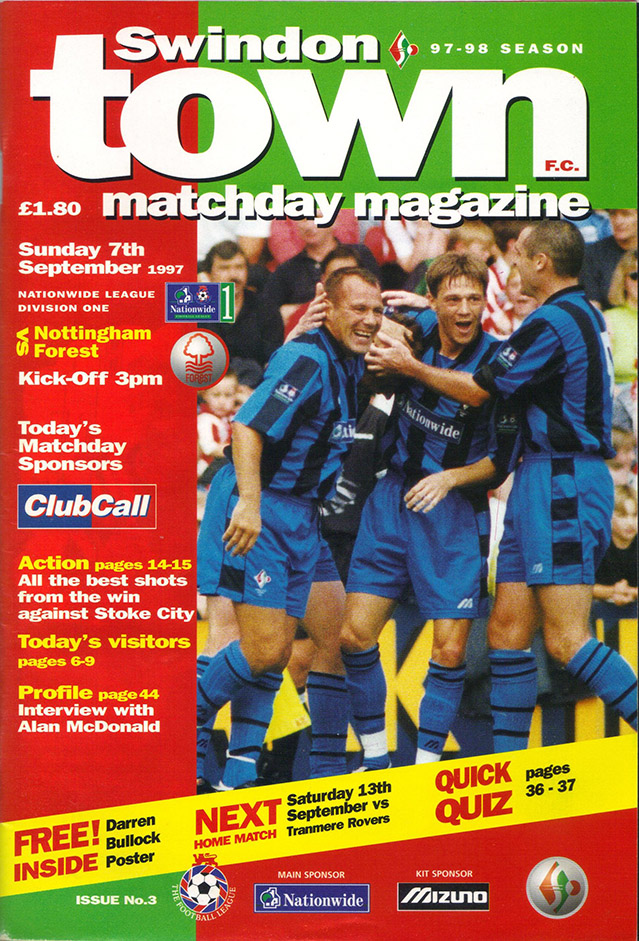 <b>Sunday, September 7, 1997</b><br />vs. Nottingham Forest (Home)
