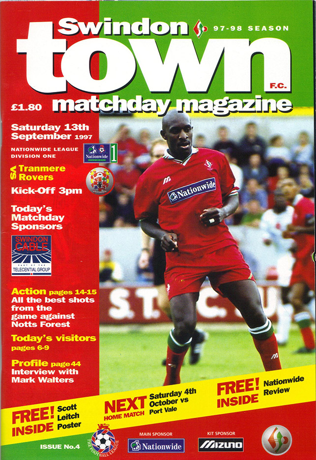 <b>Saturday, September 13, 1997</b><br />vs. Tranmere Rovers (Home)