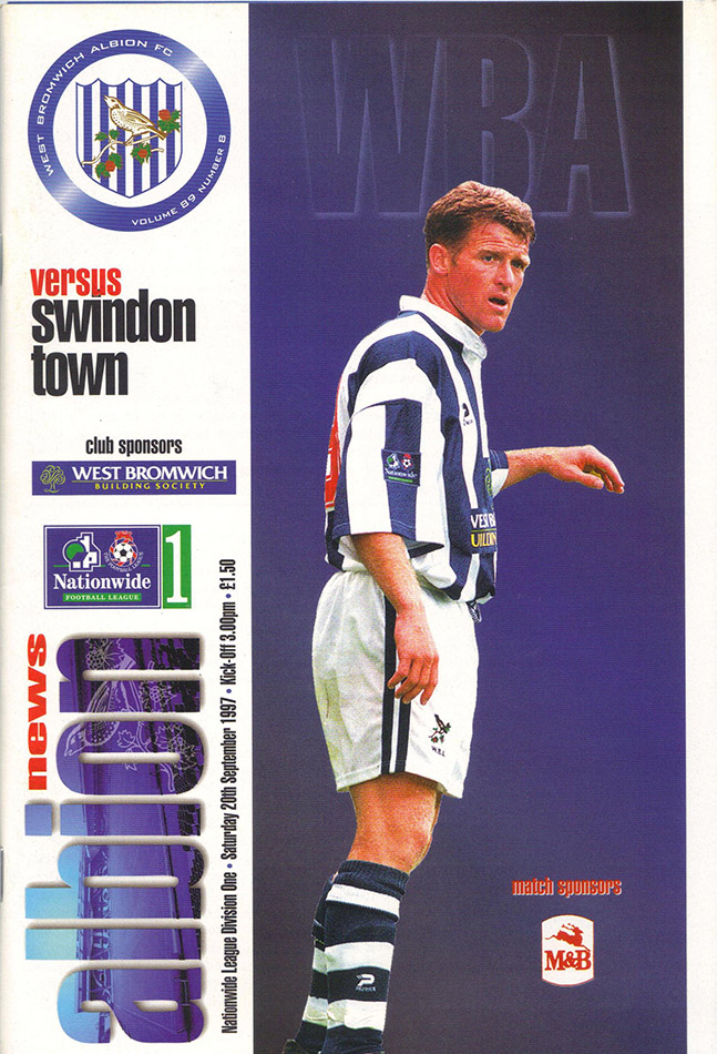 <b>Saturday, September 20, 1997</b><br />vs. West Bromwich Albion (Away)