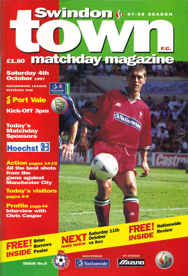 <b>Saturday, October 4, 1997</b><br />vs. Port Vale (Home)
