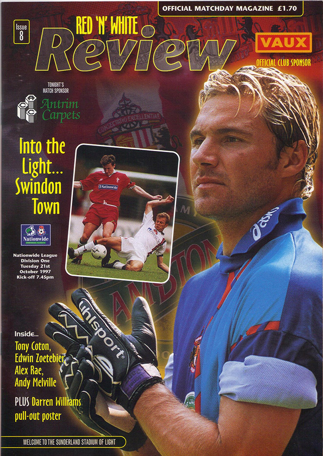 <b>Tuesday, October 21, 1997</b><br />vs. Sunderland (Away)