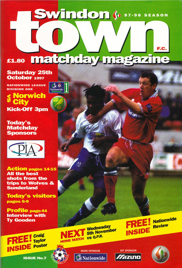 <b>Saturday, October 25, 1997</b><br />vs. Norwich City (Home)