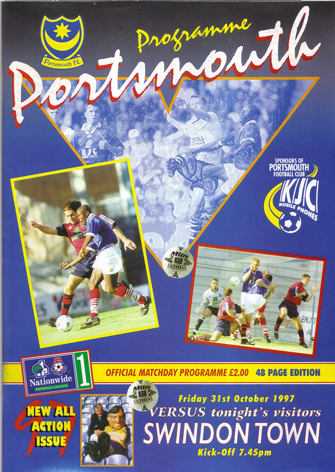<b>Friday, October 31, 1997</b><br />vs. Portsmouth (Away)