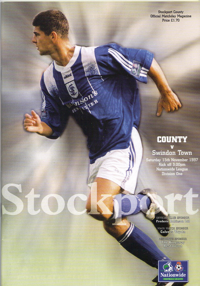 <b>Saturday, November 15, 1997</b><br />vs. Stockport County (Away)