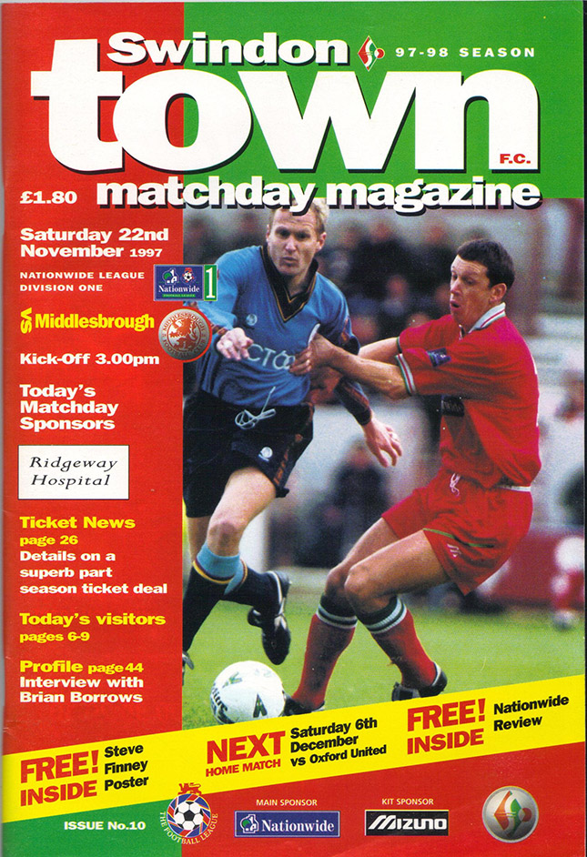 <b>Saturday, November 22, 1997</b><br />vs. Middlesbrough (Home)