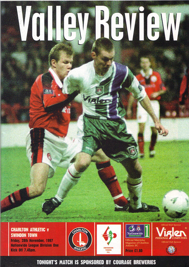 <b>Friday, November 28, 1997</b><br />vs. Charlton Athletic (Away)