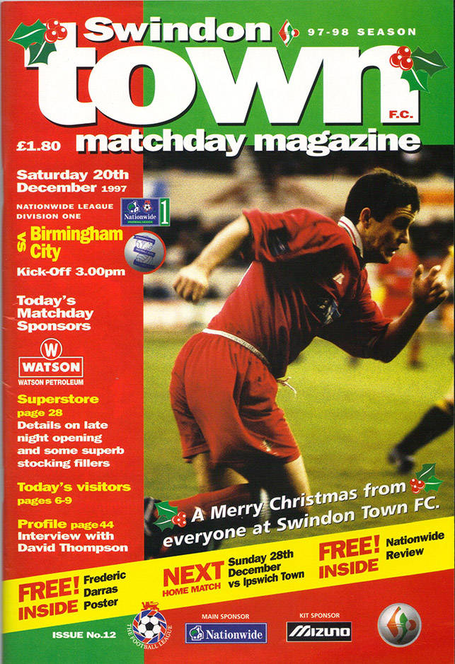 <b>Saturday, December 20, 1997</b><br />vs. Birmingham City (Home)