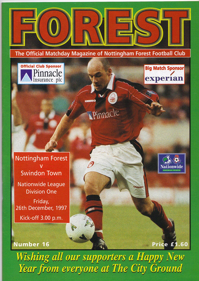 <b>Friday, December 26, 1997</b><br />vs. Nottingham Forest (Away)