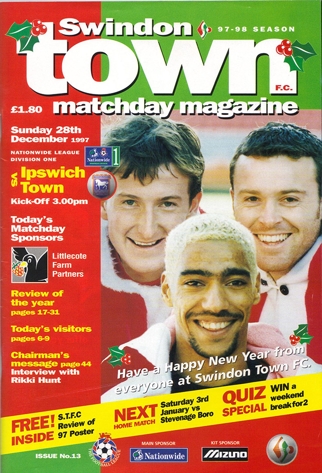<b>Sunday, December 28, 1997</b><br />vs. Ipswich Town (Home)
