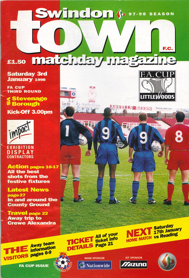 <b>Saturday, January 3, 1998</b><br />vs. Stevenage Borough (Home)