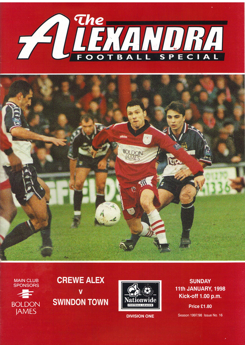 <b>Sunday, January 11, 1998</b><br />vs. Crewe Alexandra (Away)