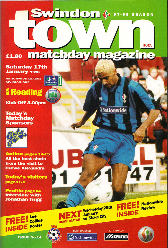 <b>Saturday, January 17, 1998</b><br />vs. Reading (Home)