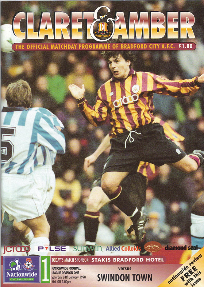 <b>Saturday, January 24, 1998</b><br />vs. Bradford City (Away)