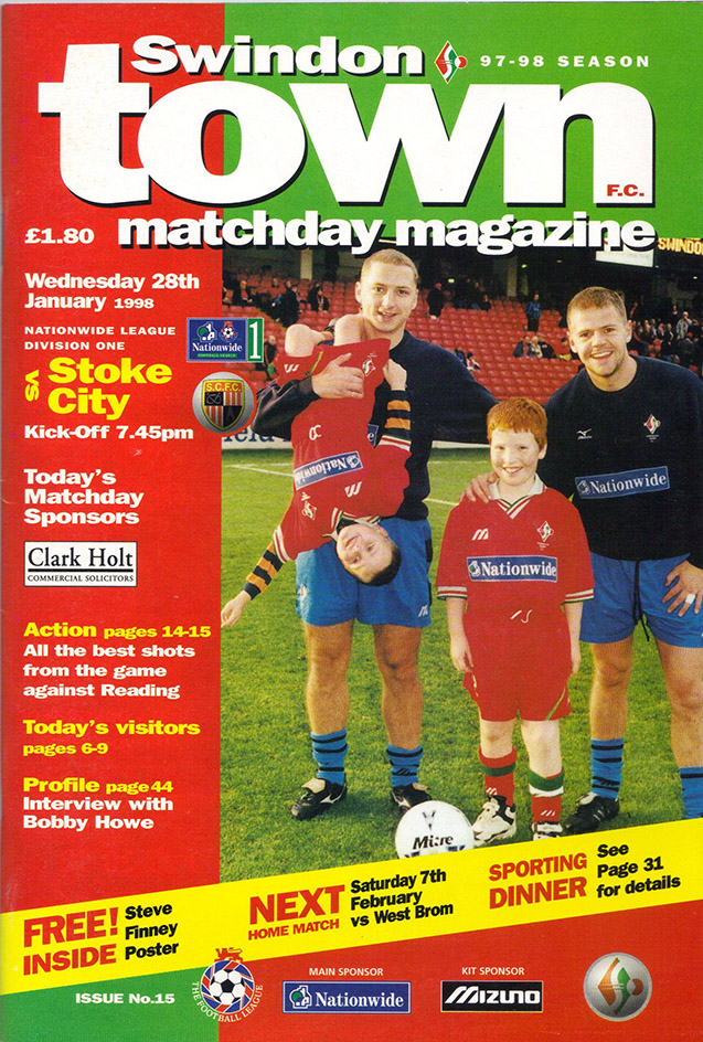 <b>Wednesday, January 28, 1998</b><br />vs. Stoke City (Home)