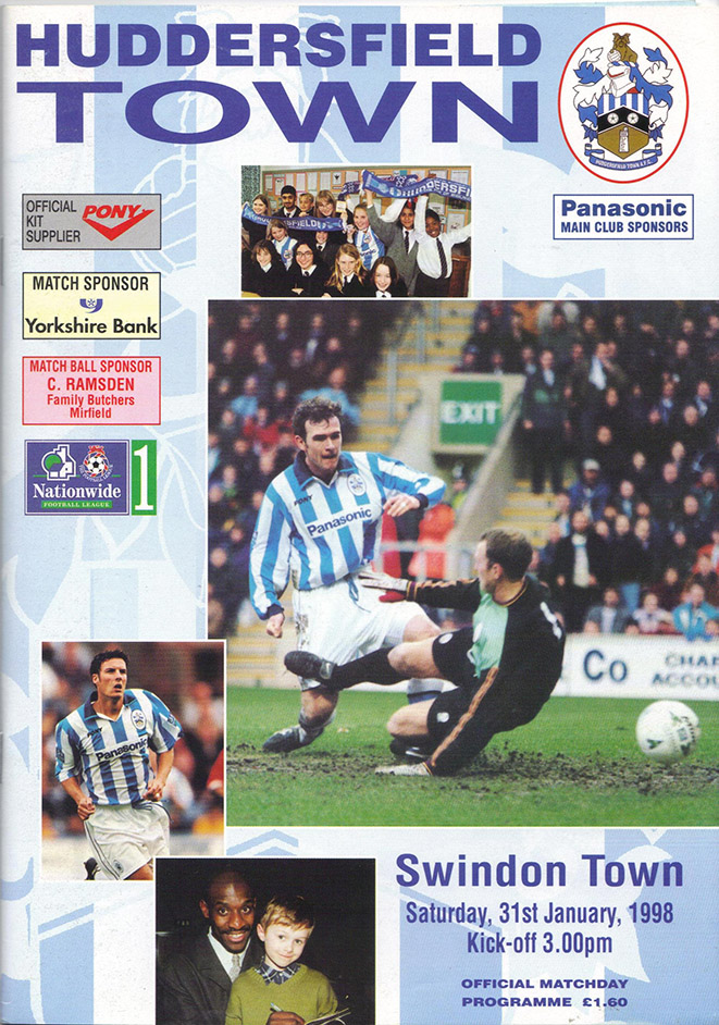 <b>Saturday, January 31, 1998</b><br />vs. Huddersfield Town (Away)
