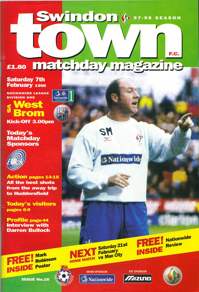 <b>Saturday, February 7, 1998</b><br />vs. West Bromwich Albion (Home)