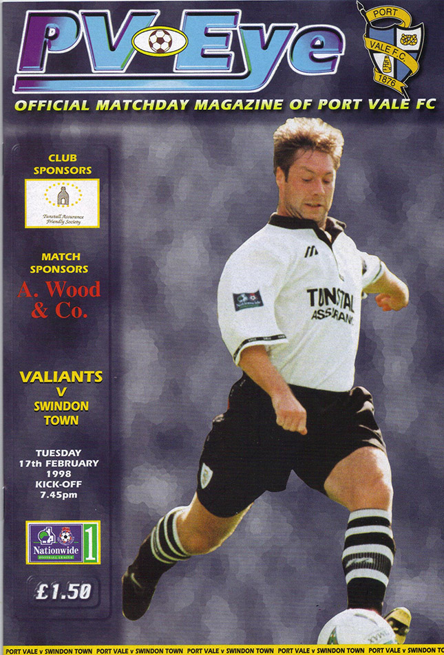 <b>Tuesday, February 17, 1998</b><br />vs. Port Vale (Away)