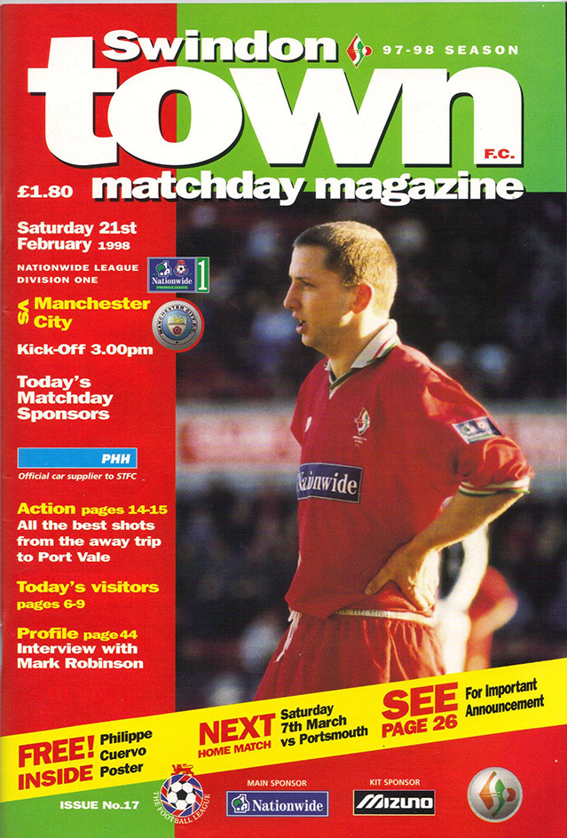 <b>Saturday, February 21, 1998</b><br />vs. Manchester City (Home)