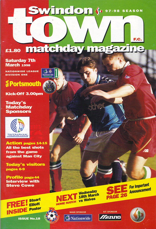 <b>Saturday, March 7, 1998</b><br />vs. Portsmouth (Home)