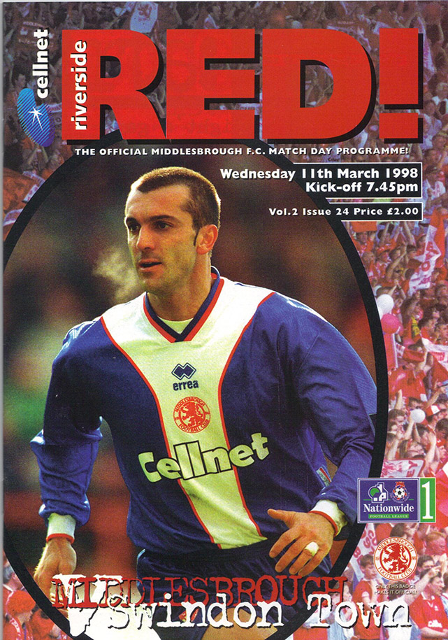 <b>Wednesday, March 11, 1998</b><br />vs. Middlesbrough (Away)
