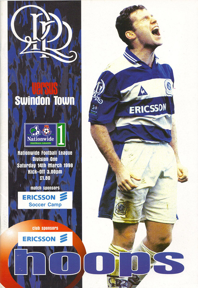 <b>Saturday, March 14, 1998</b><br />vs. Queens Park Rangers (Away)