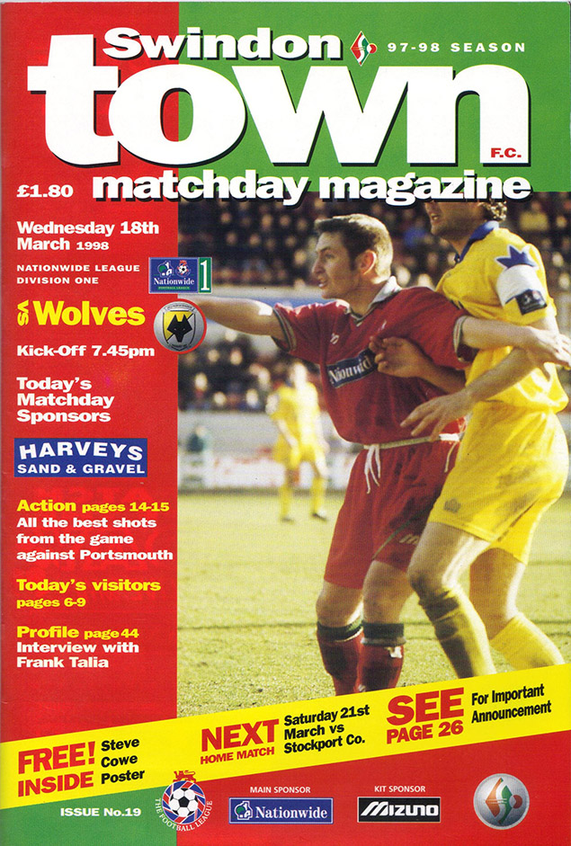 <b>Wednesday, March 18, 1998</b><br />vs. Wolverhampton Wanderers (Home)