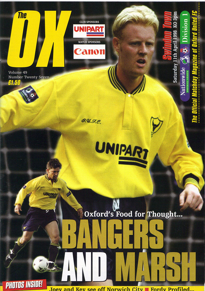 <b>Saturday, April 11, 1998</b><br />vs. Oxford United (Away)