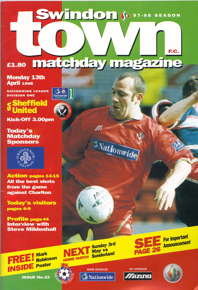 <b>Monday, April 13, 1998</b><br />vs. Sheffield United (Home)