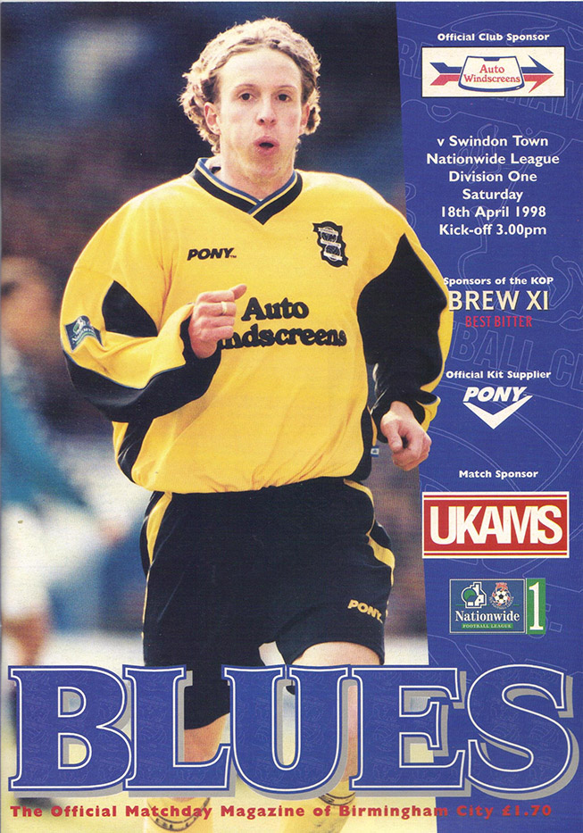 <b>Saturday, April 18, 1998</b><br />vs. Birmingham City (Away)