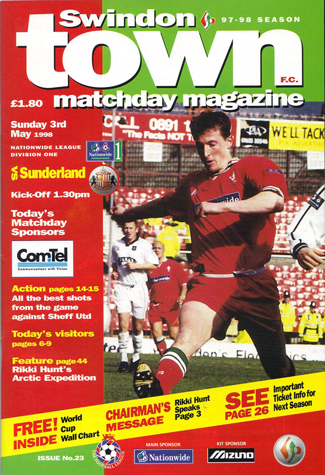 <b>Sunday, May 3, 1998</b><br />vs. Sunderland (Home)