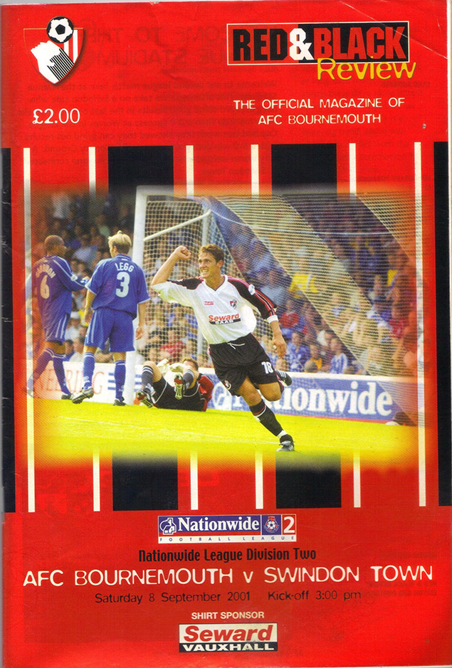 <b>Saturday, September 8, 2001</b><br />vs. AFC Bournemouth (Away)