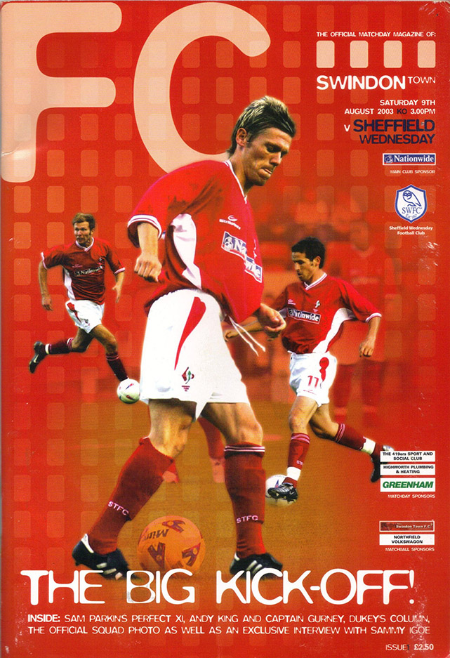 Saturday, August 9, 2003 - vs. Sheffield Wednesday (Home)