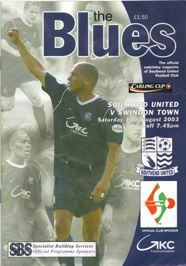 Tuesday, August 12, 2003 - vs. Southend United (Away)