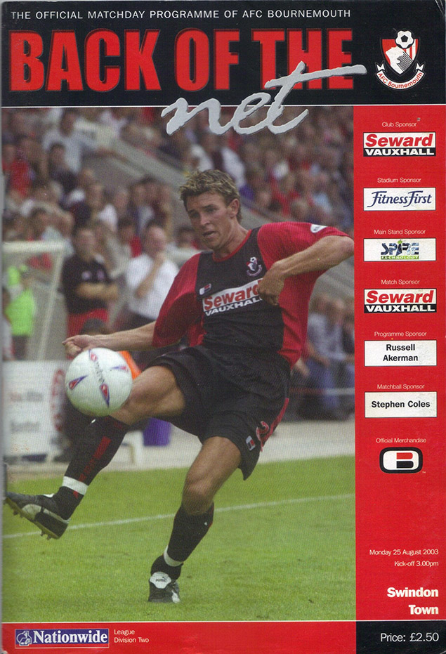 Monday, August 25, 2003 - vs. AFC Bournemouth (Away)