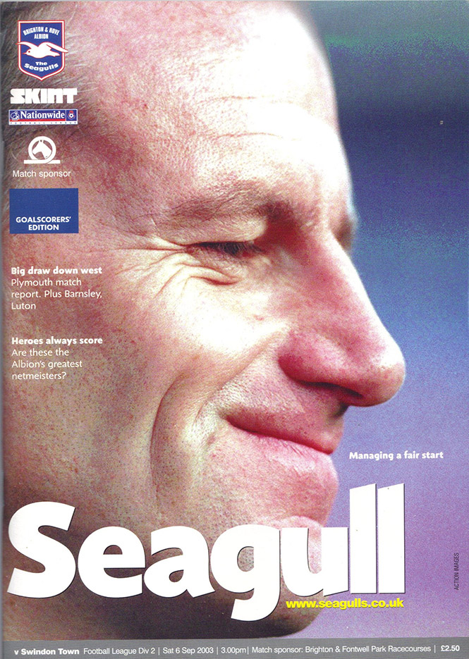 Saturday, September 6, 2003 - vs. Brighton and Hove Albion (Away)