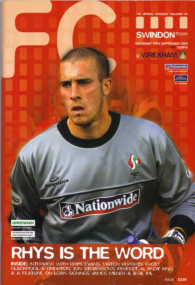 Saturday, September 13, 2003 - vs. Wrexham (Home)