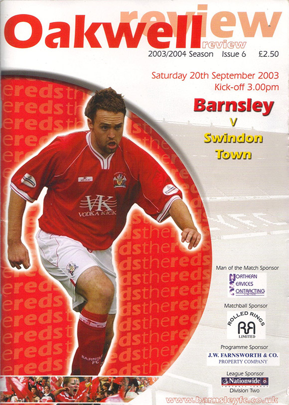 Saturday, September 20, 2003 - vs. Barnsley (Away)