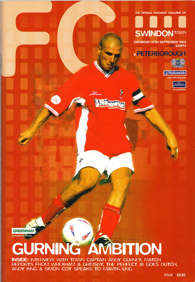 Saturday, September 27, 2003 - vs. Peterborough United (Home)