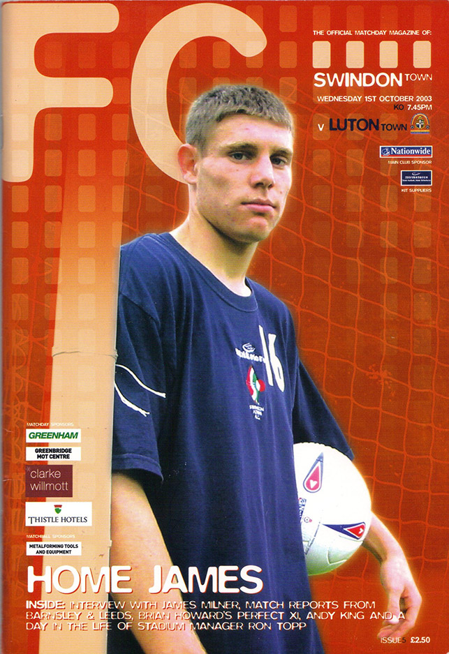 Wednesday, October 1, 2003 - vs. Luton Town (Home)